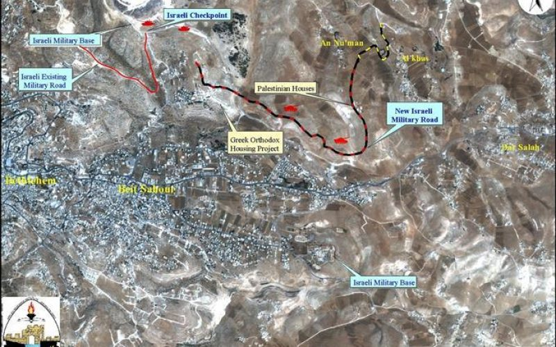 A New Military Road Around Har Homa settlement