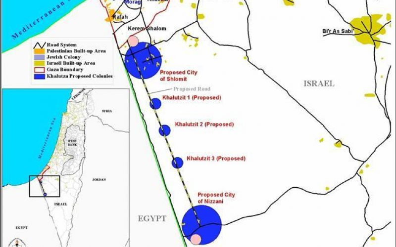 Plan for five new Settlements in Rimal Haloutza near the Egyptian borders…!