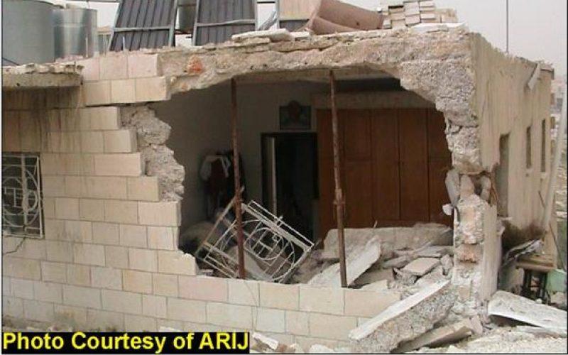"Devastations of Bethlehem district <br> ""An act of Israeli Vandalism """