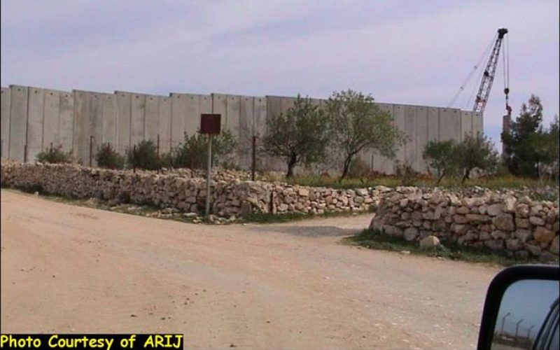 Installation of Wall blocks at Bethlehem Northern entrance