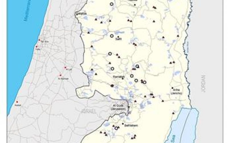 9 new Israeli settlements and 65 new outposts in the Palestinian Territories between 2002 and 2004