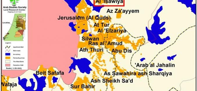 The new Jerusalem Master Plan grabs 250 dunums of 'Issawiya village lands