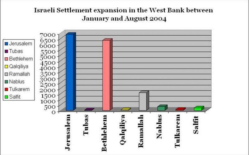 The Israeli Colonization Activities in the West Bank and the Gaza Strip During 2004