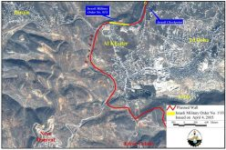 The Israeli Segregation Wall hits Al-Khader village lands