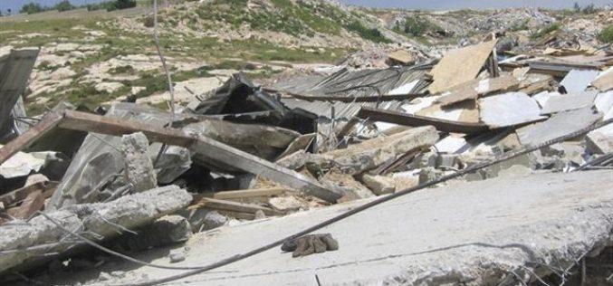استمرار عمليات هدم المنازل والمنشآت الفلسطينية في القدس المحتلة