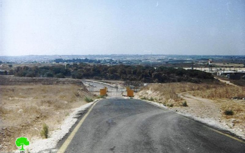 Closure of an agricultural Wall gate threatens the olive-picking season in Far'un village