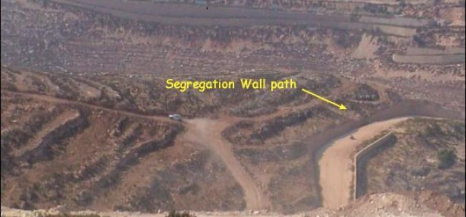 The Israeli colonization activities in Beit Ijza Village.