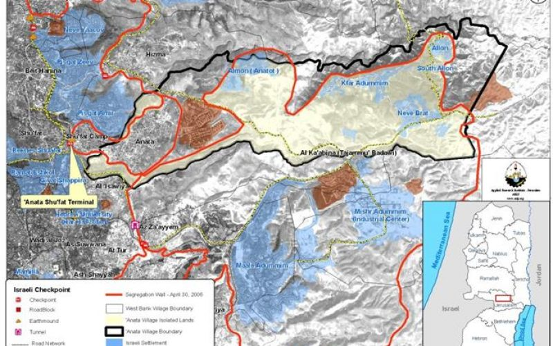 Israel Confiscate more of 'Anata's village lands