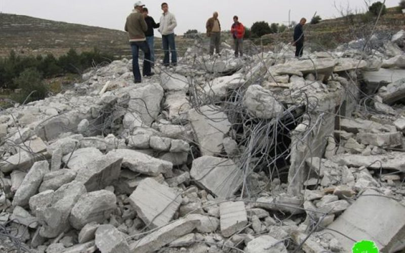 A house demolished, three others threatened in the town of Halhul