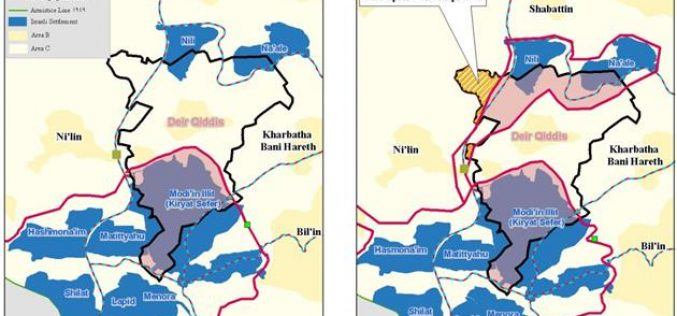 The Segregation Wall, an unlawful measure of Land Grab !!! <br> &#8220;The Case of Deir Qiddis village&#8221;