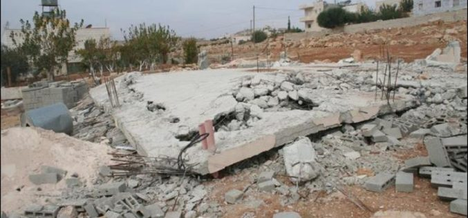 The Israeli Army Bulldozers Demolish Two Palestinian Houses in Al Furdeis village
