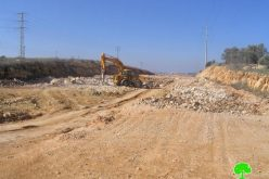Israeli Occupation Authorities commence the construction of a new section of Bypass Road Number 5