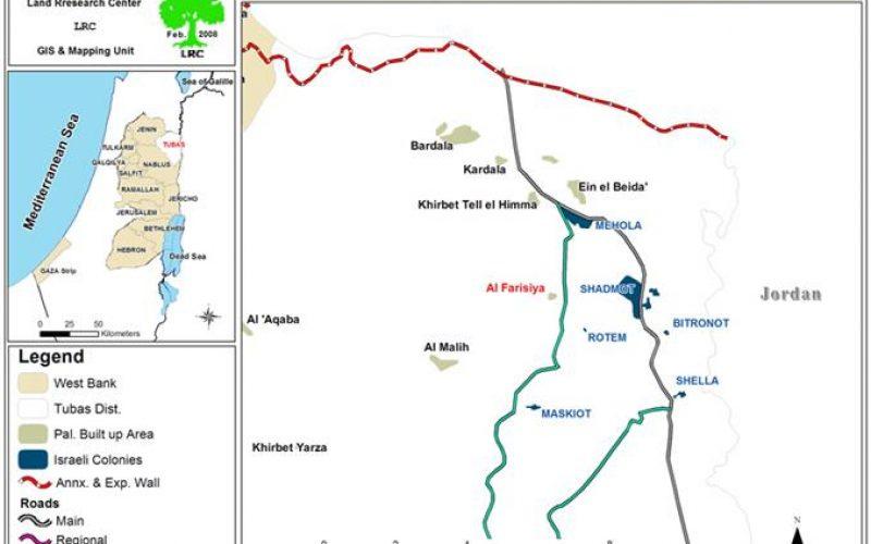 سلطات الاحتلال تستمر في اقتلاع سكان خربة الفارسية