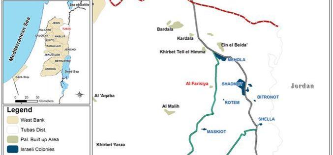 Israeli Occupation Authorities Embark on an Eviction Campaign in Khirbat Al Farisiya in the Northern Jordan Valley