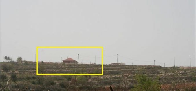 The Israeli settlers construct new outpost on the lands of Al Khader village