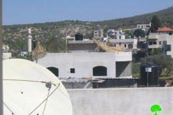 الاستيلاء على منزل فلسطيني وتحويله إلى ثكنة عسكرية
