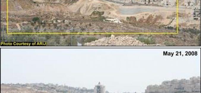 """فلسطينيو مدينة بيت لحم يشهدون توسعات استيطانية على حساب أراضيهم بالقرب من مستوطنة أبو غنيم """"هار حوما"""""""
