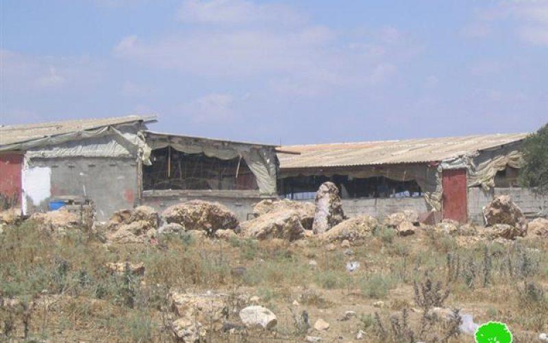 New Demolition Orders against Barracks in Al Ramadien Al Shamali