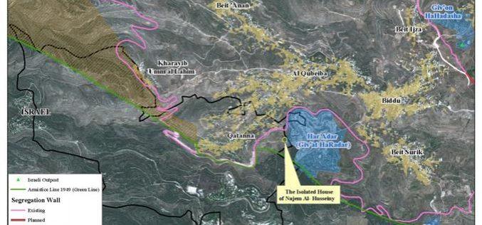 The Israeli Occupation targets the village of Qatanna