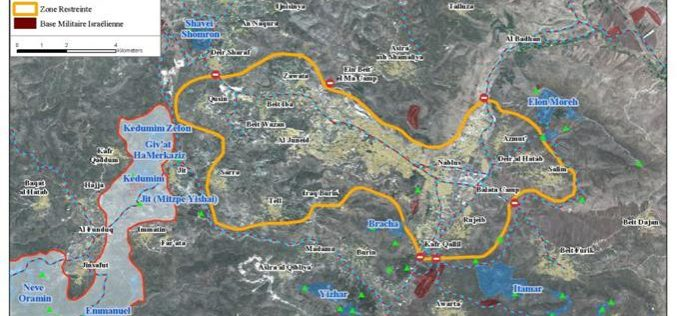 Le siège de la ville de Nablus et des 15 villages autour se resserre.