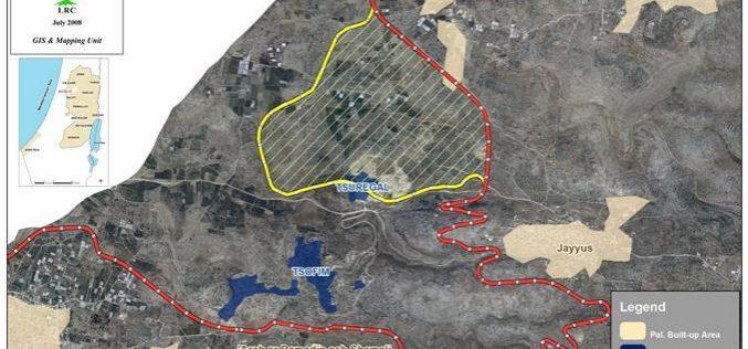 قوات الاحتلال توقف البناء في بلدة جيوس