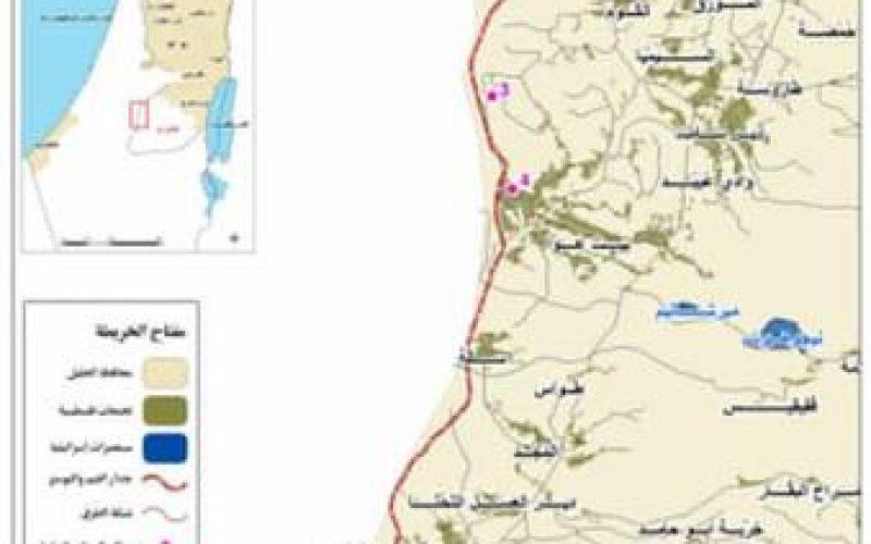 الاحتلال يغلق طرقا زراعية في محافظة الخليل