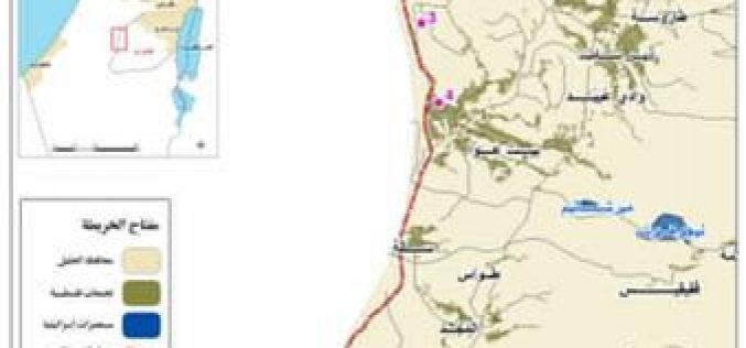 The Israeli Occupation Cuts Off Agricultural Roads in Hebron Governorate