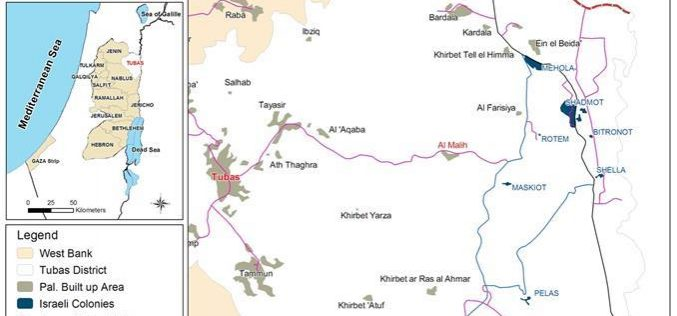 Israeli Occupation Forces Submit Demolition Orders in Wadi Al Malih East of Tubas city