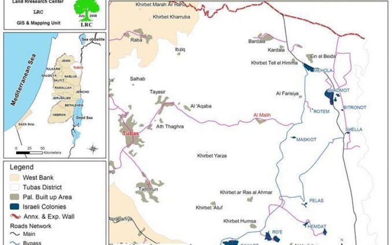 سلطات الاحتلال الاسرائيلي تخطر عدد من المنشآت بوقف البناء في خربة واد المالح