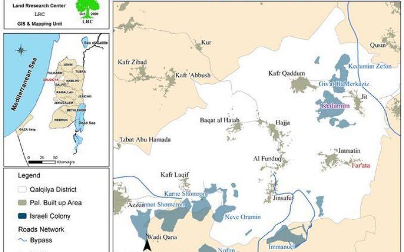 حرق أراضي زراعية في قرية فرعطة