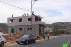 Stop Work Orders in the Village of Broqin – Salfeet Governorate