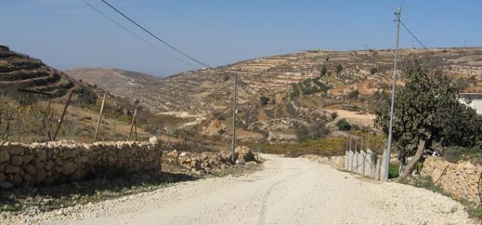 منع تعبيد طريق وادي أبو رجب شمال بلدة حلحول