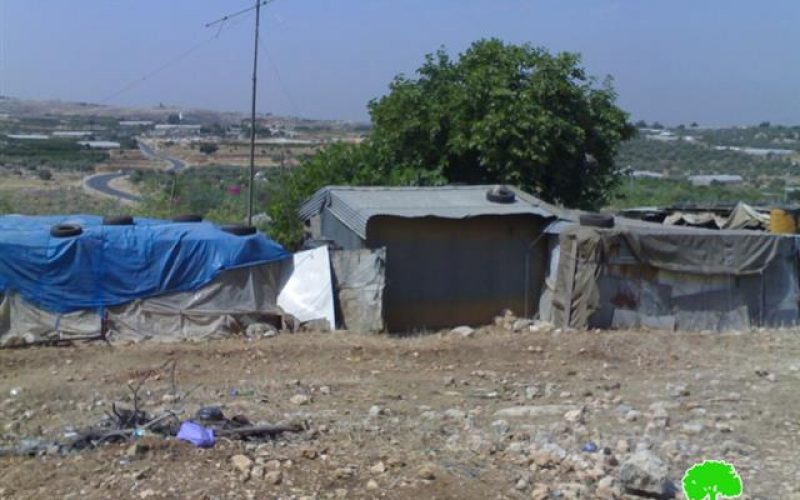 إخطار عدد من المنشآت الفلسطينية بوقف البناء في قرية يعبد
