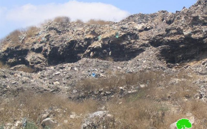 Palestinian Lands Transformed into Dumping Sites for Colonists' Waste