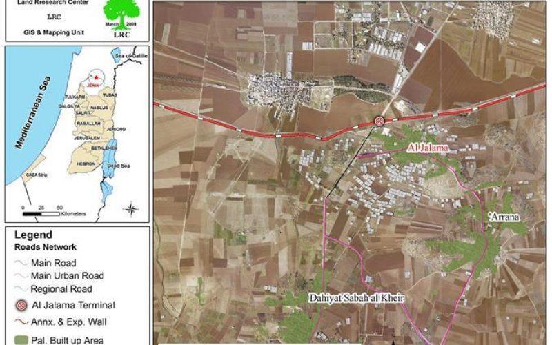 Israeli Occupation Forces Plan to enlarge Al Jalama Checkpoint
