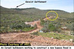 الاحتلال الاسرائيلي يشق شارع استيطاني على أراضي قرية نحالين