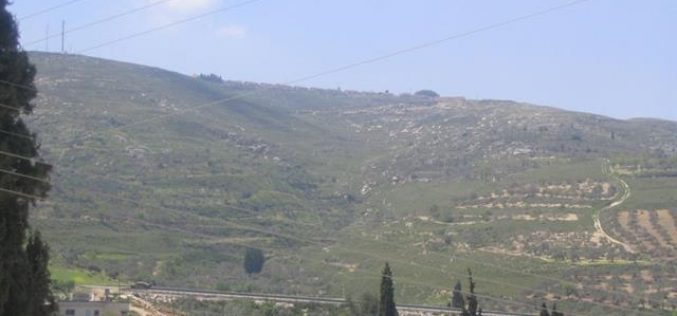 Confiscation of more Palestinian Lands in Burin village for the expansion of Bracha Settlement
