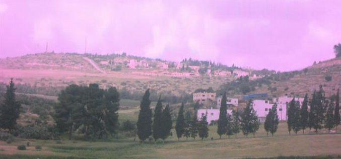 المستعمرون الاسرائيليون يحولون البيئة إلى مكرهة صحية في قرية جلبون