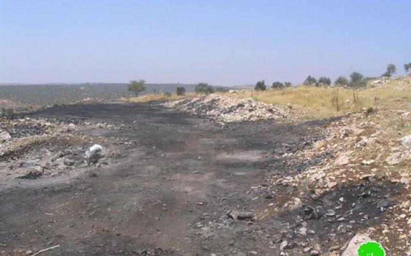 """مستعمرو """" يتسهار"""" يشعلون النار في حقول المواطنين الفلسطينيين في قرية بورين"""