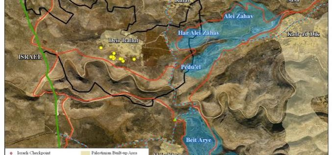 New Israeli Military Orders to demolish 12 Palestinian houses in Deir Ballut Village