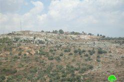 تجريف أراضي الفلسطينيين في قرية سرطة لصالح مستعمرة بركان