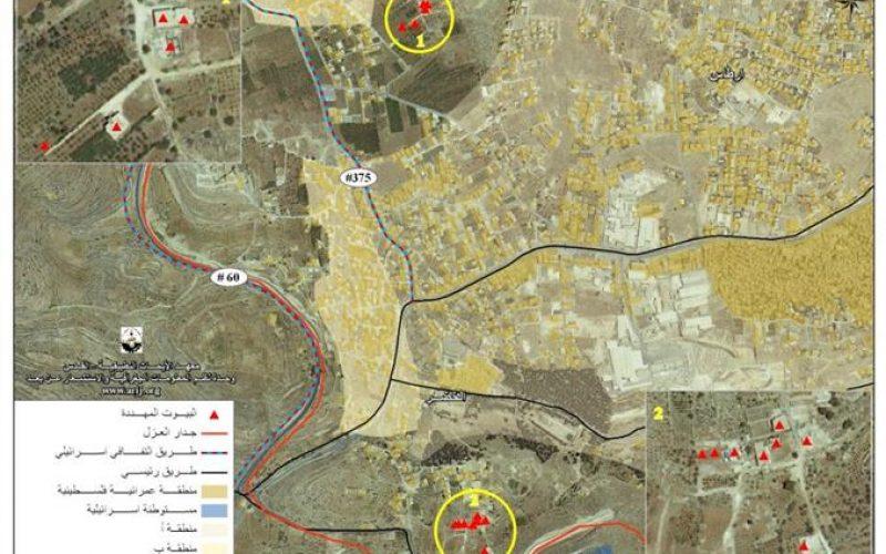 اخطارات اسرائيلية جديدة لهدم منازل فلسطينية في بلدة الخضر غرب مدينة بيت لحم