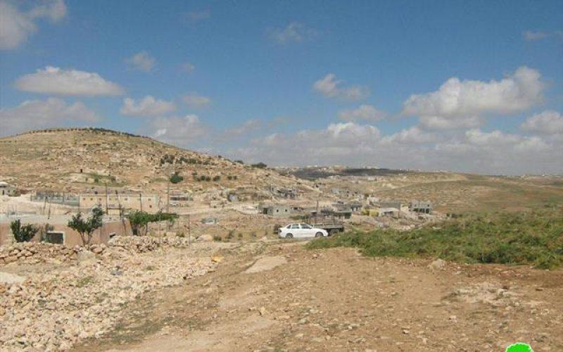 أوامر هدم للمنازل والمنشآت الفلسطينية  في خربة التواني جنوب الخليل