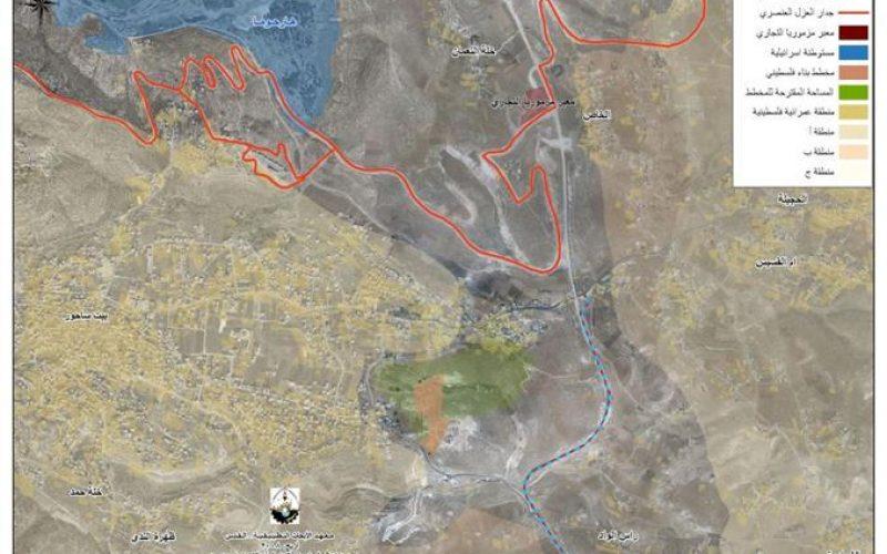 تواصل اعتداءات المستوطنين الاسرائيليين على منطقة عش غراب شرق مدينة بيت ساحور