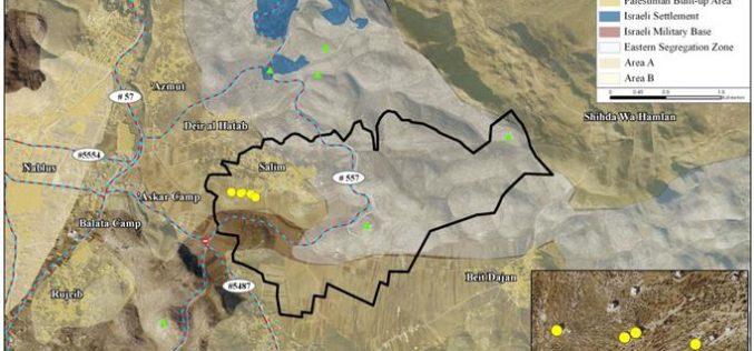 Israeli Halt-of-Construction Orders to 17 Palestinian houses in Salim Village