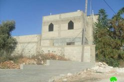 Under the pretext of building in zone C <br> &#8220;Halt of construction orders against 17 Palestinian houses and barracks in Salim village &#8220;