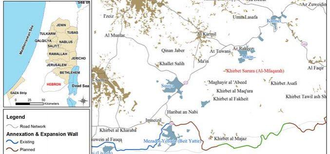 Halt of construction order in Khirbet Al Mufaqra