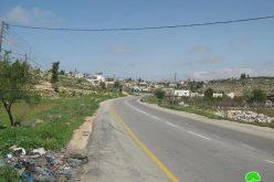 إخطار عدداً من المنشآت الزراعية والتجارية بالإخلاء والهدم ووقف البناء في بلدة بيت أمر