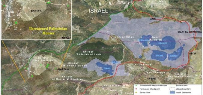 The Israeli Occupation Authorities target Barta'a Ash Sharqiya residents with new demolition orders