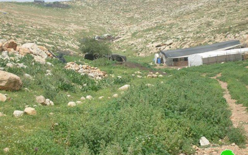 New Stop-Work Orders against Palestinian Structures in Al Hadidiya and Samra